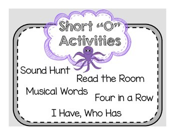 "Short Vowel ""O"" Activities"