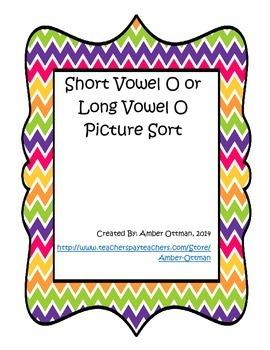 Short Vowel O or Long Vowel O Picture Sort