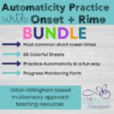 Short Vowel Onset-Rime Automaticity Reading Practice Bundle