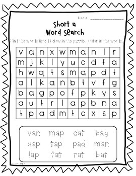 Short Vowel Pack