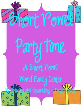 Short Vowel Party Time {A Literacy Center to Practice Word Families}