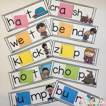 Short Vowel Patterns Build a Word - Phonics Alternative Spelling