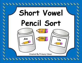 Short Vowel Pencil Sort