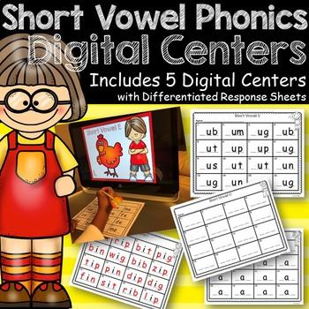 Short Vowel Sounds:  Digital Centers
