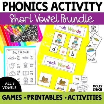 Short Vowel Phonics Bundle Activities