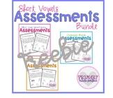 Short Vowel Phonics Assessments FREEBIE- Word Families, Bl