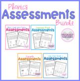 Phonics Assessments BUNDLE Short Vowels, Blends, Digraphs,