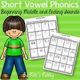 Short Vowel Phonics: Beginning, Middle, and Ending Sounds