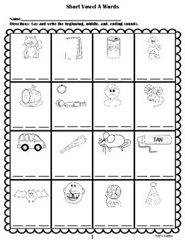 Short Vowel Phonics: Beginning, Middle, and Ending Sounds