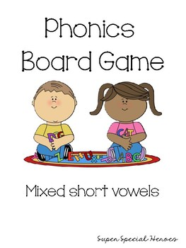 Short Vowel Phonics Board Game