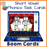 Short Vowel Phonics Boom Learning Cards