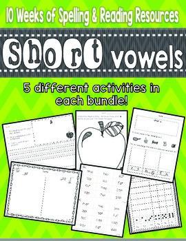 Short Vowel Phonics Bundle {10 Week Complete Phonics Instruction}