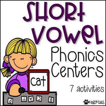 Short Vowel Phonics Centers {CVC Words}