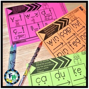 Short Vowel Phonics Fluency Strips