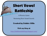 Short Vowel Phonics Game Pack - Short Vowel Battleship