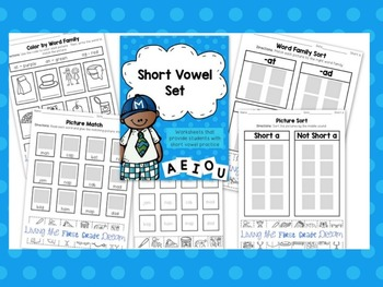 Short Vowel Phonics Pages
