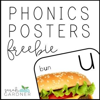 Short Vowel Phonics Posters FREEBIE