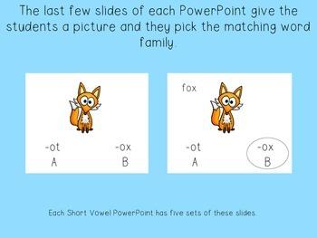 Short Vowel Phonics PowerPoints Set (CVC Words)