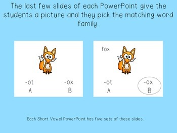 Short Vowel Phonics PowerPoints Set (CVC Words)