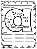 Short Vowel Sight Word Puzzle FREEBIE!