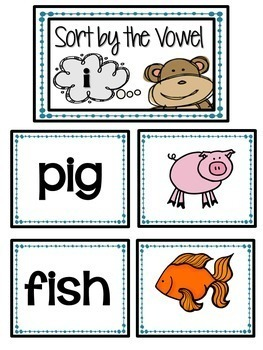 Short Vowel Phonics Unit, Word Work and Literacy Center Activities
