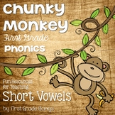 Short Vowel Phonics Unit, Word Work and Literacy Center Ac