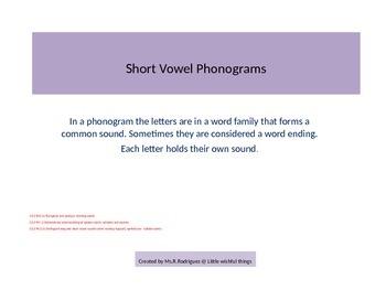Short -a Phonograms