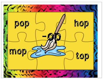 Short Vowel Phonograms Puzzle Pictures and Words