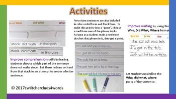 Short Vowel Phrase Cards and Sentences