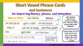 Short Vowel Phrase Cards and Sentences