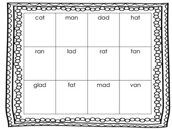 Short Vowel Picture Boxes