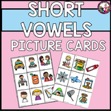 Short Vowel Picture Cards! Practice Pages too! Set #4