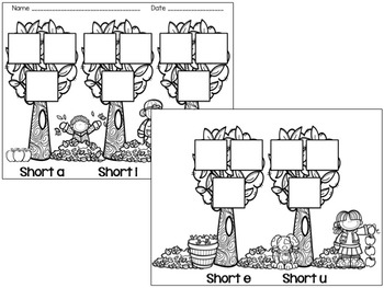 Short Vowel Picture Cut and Sort Center
