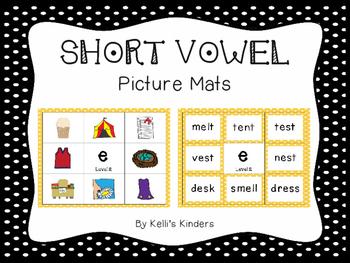 Short Vowel Picture Mats
