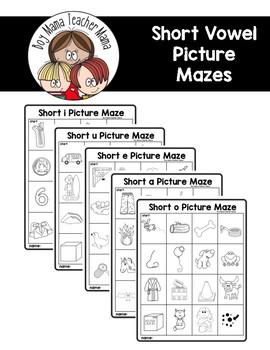 Short Vowel Picture Mazes