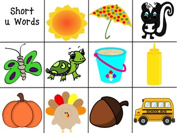 Short Vowel Picture Sort