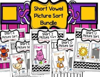 Short Vowel Picture Sort Bundle