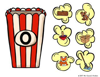 Short Vowel Picture Sort - Popcorn