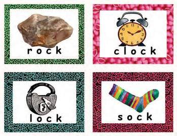 Short Vowel Color Picture Word Cards for Word Walls, Puzzles, and Matching