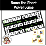 Short Vowel Pictures Cards and Name the Short Vowel Game
