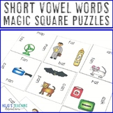 Short Vowel Words Literacy Center, Game, or Activity {ELA Magic Square Puzzle}
