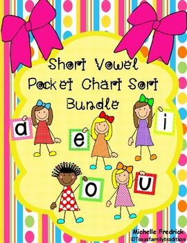 Short Vowel Pocket Chart Sort Bundle