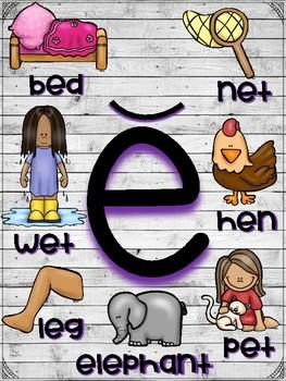 Short Vowel Posters