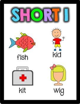 Short Vowel Posters Freebie