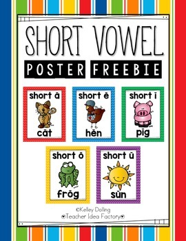 Short Vowel Posters (Freebie)
