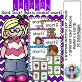 Short Vowel Posters - Medial Sound (chevron)