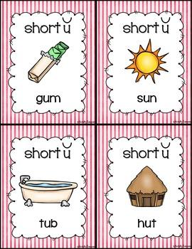 Short Vowel Posters - Medial Sound (stripes)
