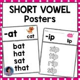Short Vowel Posters for Beginning Readers