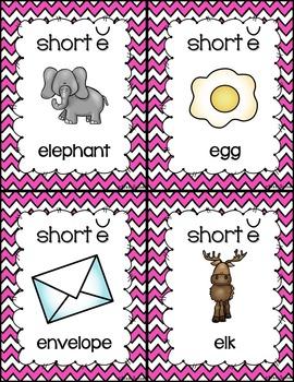 Short Vowel Posters (chevron)