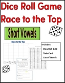 Short Vowel Practice Dice Roll - Race to the Top